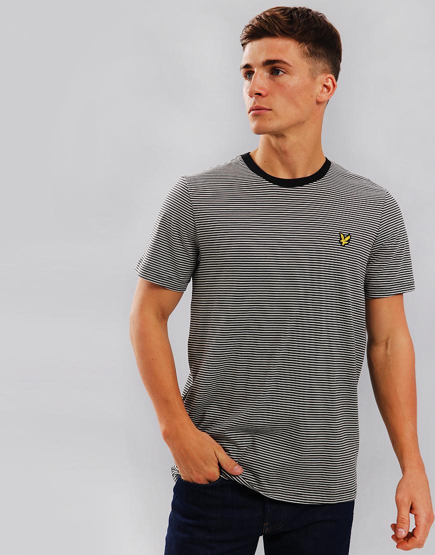 f52083f5 Lyle & Scott Feeder Stripe T-Shirt True Black - Terraces Menswear