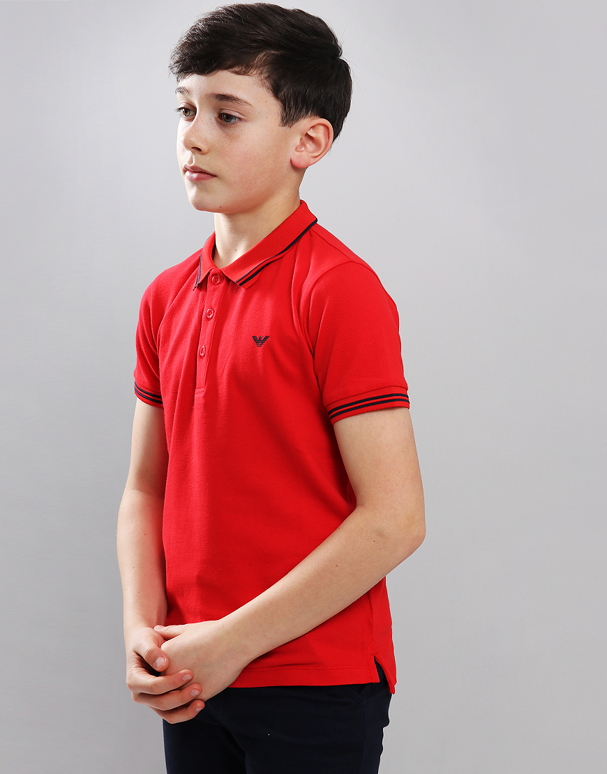 e686e6d7 Armani Junior Tipped Polo Shirt Red – 8yr – PPC Direct
