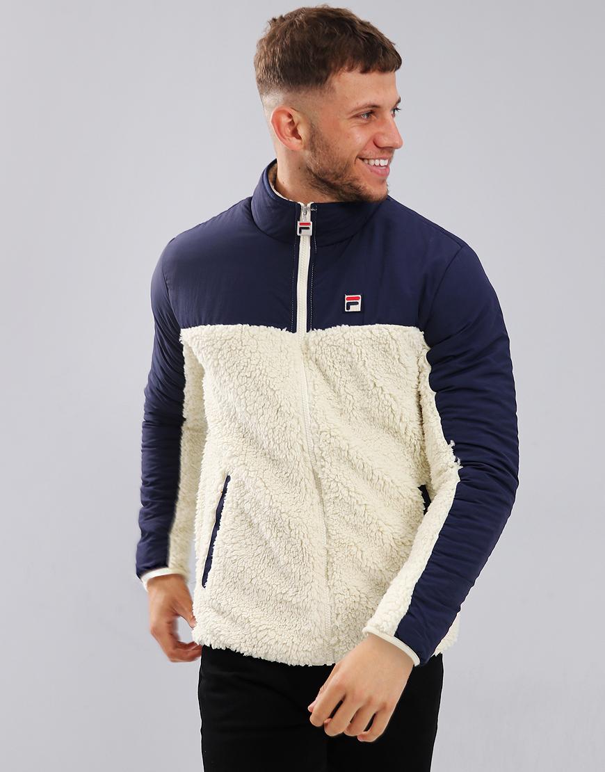 f3953a213 Fila Vintage Tonetto 2 Fleece Jacket Oyster White – XL ...