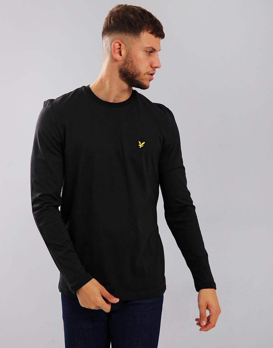 890e359be Lyle & Scott Long Sleeve T-Shirt True Black - Terraces Menswear